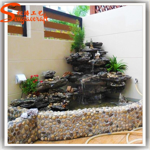 Indoor decor jard n estanque estanques de peces piedra for Estanques de fibra