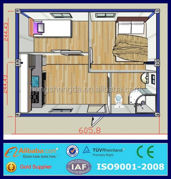 Indonesia Low Cost Prefab 20ft Shipping Container House Floor Plans