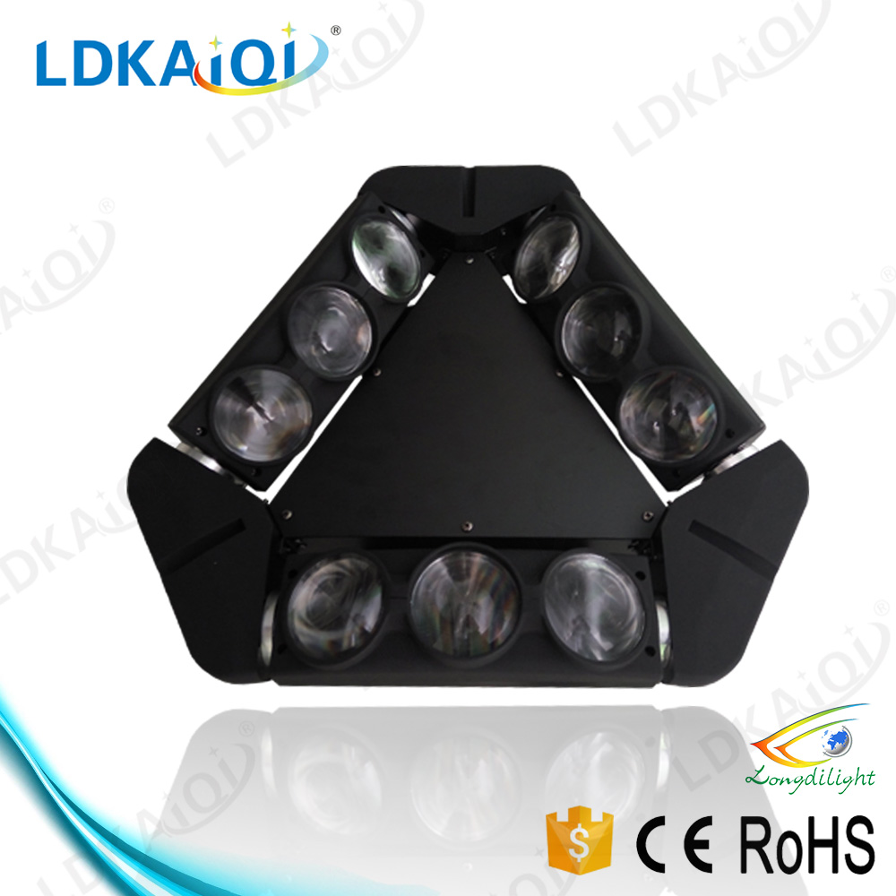 9X10W rgbw 4in1 by dmx controller professional 10w spider led moving head light
