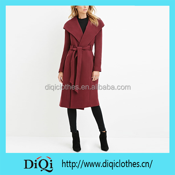Chic Factory Price High Fashion Custom Purple Hooded Longline Russian Winter Coat