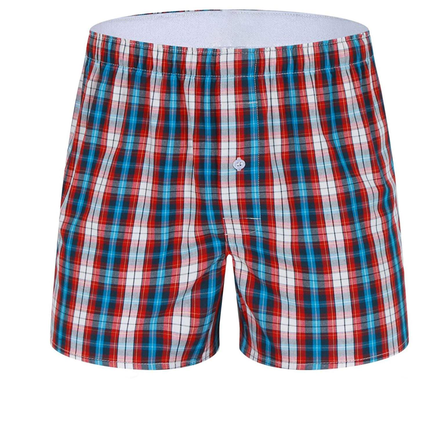 64d3af5279 Clothing, Shoes & Jewelry CheerLin Mens Beachwear Cotton Plaid Board Shorts  Swimwear Trunks Bathing Suits
