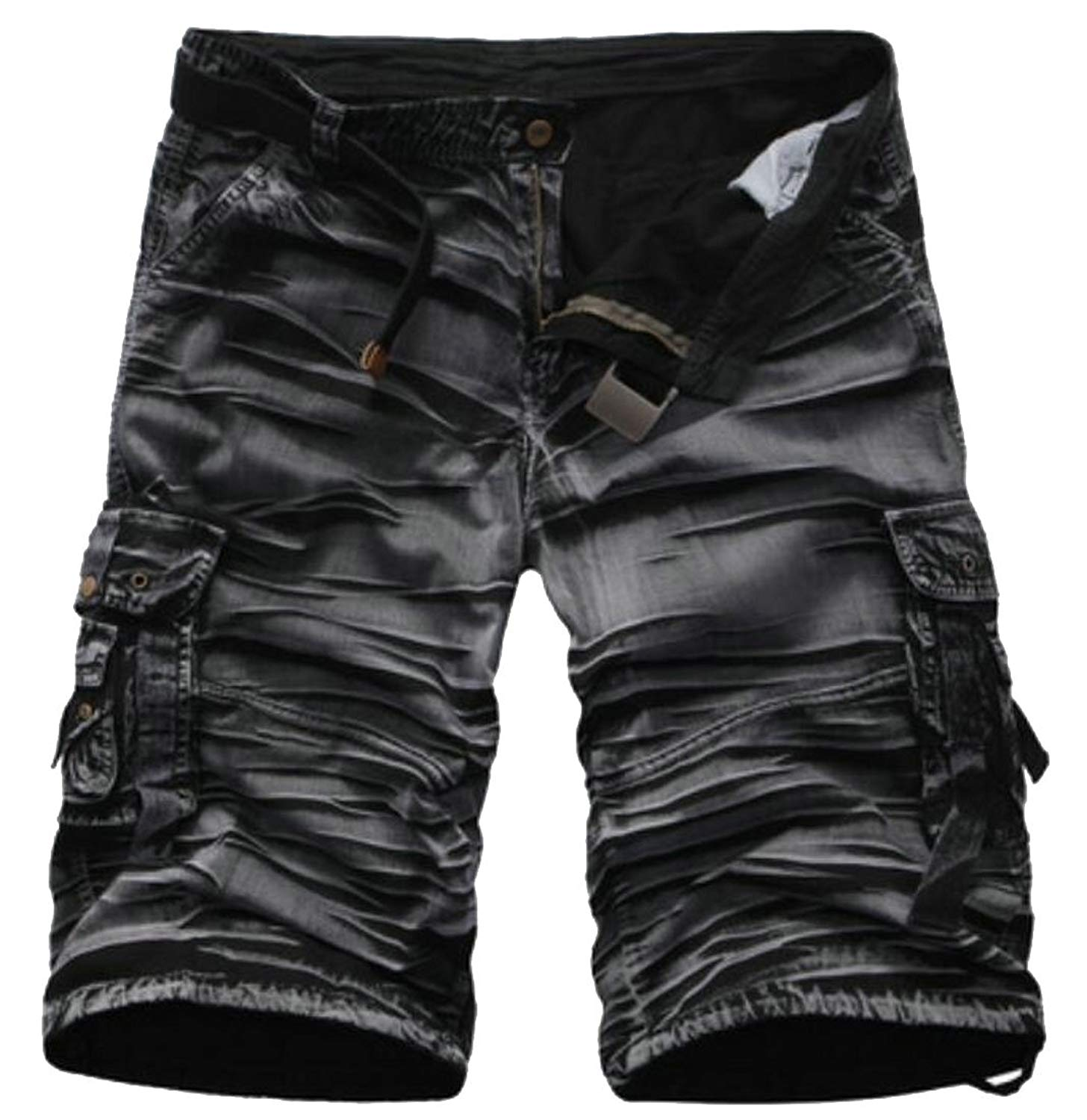ffa707dbbf Get Quotations · Beloved Mens Casual Cargo Shorts,Mens Slim Fit Athletic  Twill Cargo Shorts