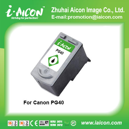 For canon pg-40 pg40 black ink cartridge