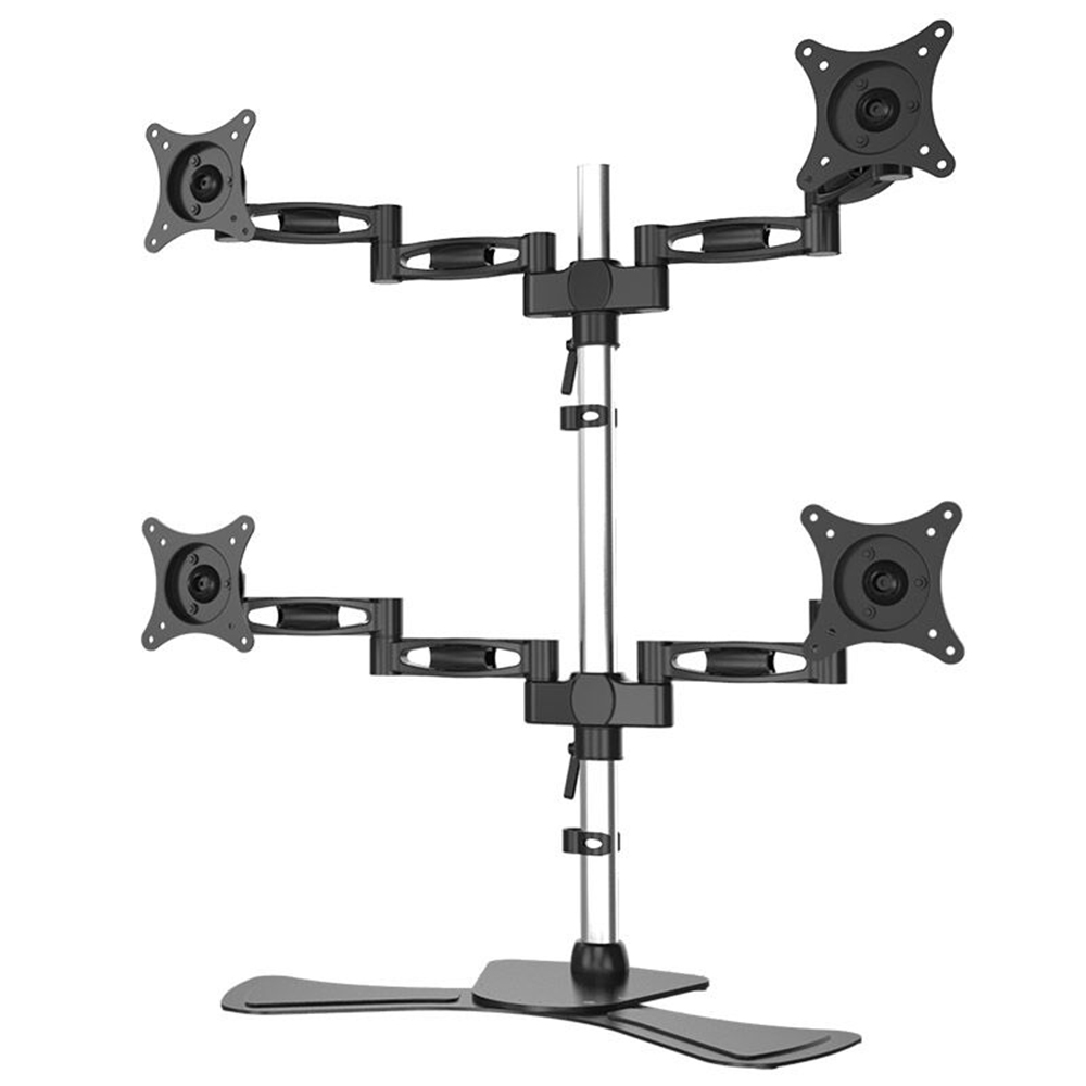 Four screen aluminum LCD computer monitor mount JN-D09S-2