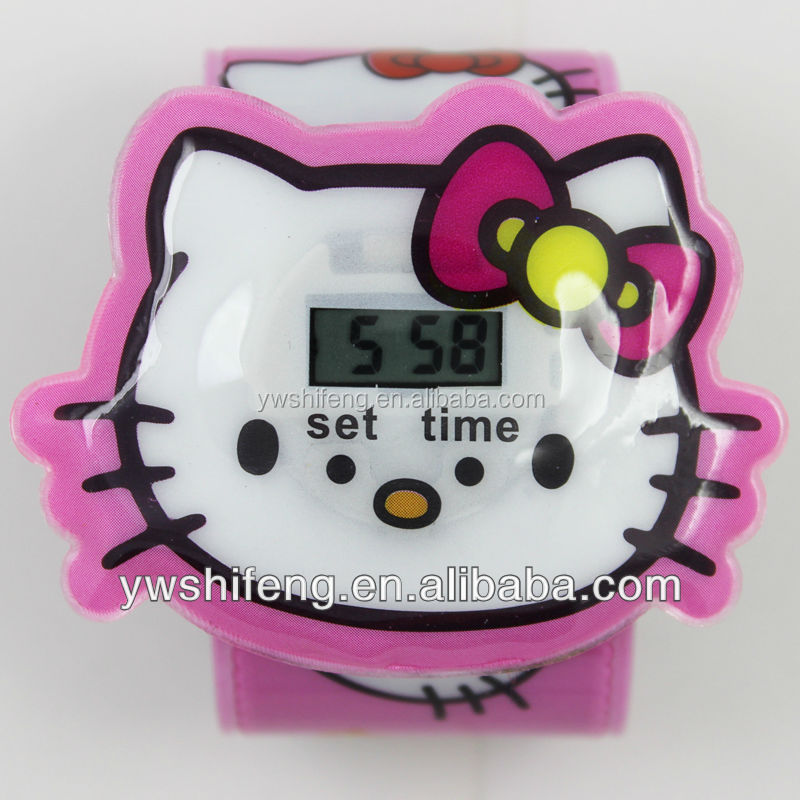 New fashion Hello Kitty shaped slap watch for kids