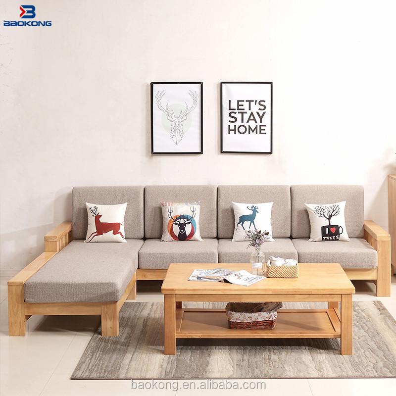 Latest Design Rubber Wood Living Room Furniture Corner Sofa Set - Buy  Drawing Room Sofa Set Design,Living Room Wooden Sofa Sets,Solid Wood Sofa  Set ...