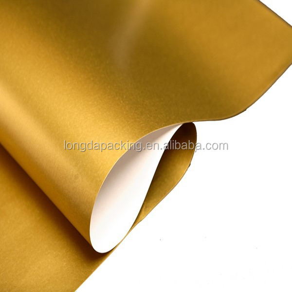 Decorative Solid Gold Gift Wrapping Paper,Solid Color Gift Roll ...
