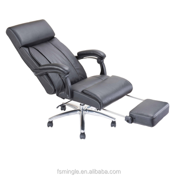 PU Upholstered Recliner Chair With Folding Footrest For Comfortable Sleeping