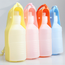 Freeship Portable Dog Cat Pet Feeding Bottle Drinking Water Bottle Outdoor Travelling Bottle for Pet Dog Color Randomly