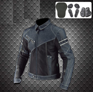 New Arrival Men Motorbike denim Jacket / Motorcycle Biker Jacket body armor For Men / Racing wear