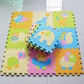 9pcs set Animal Crawling Play Mat For Children Baby Climb Puzzle Eva Foam Carpet Kids Rug