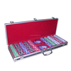 2013 new design best quality poker set ,aluminium chips case with 300 chips and playing card