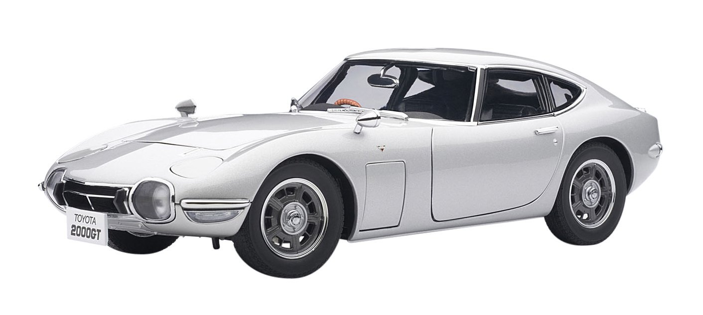 Toyota 2000 GT Upgraded Silver 1:18 Autoart