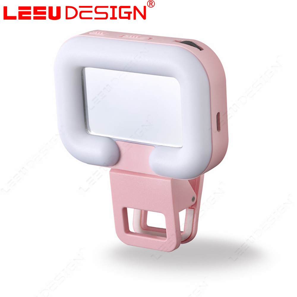 Portable universal mobile phone selfie led flash fill light with battery