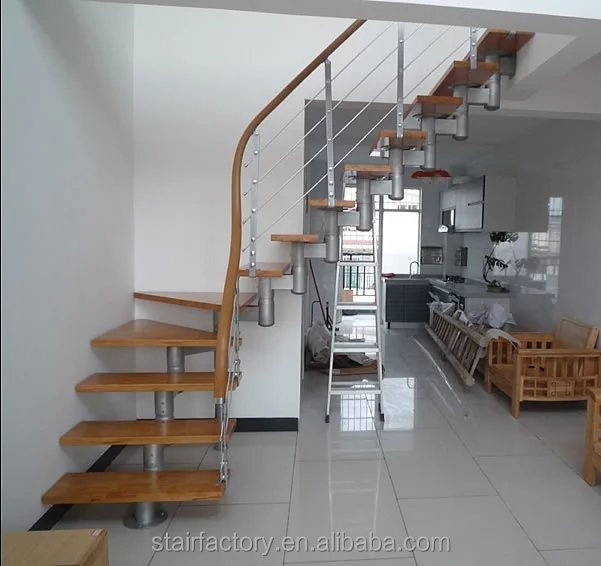 Adjustable stringer Stairs simple ,modern stair treads,wood stair edging,TS-141
