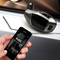 Portable USB Car Kit Charger Audio MP3 Player fm transmitter Speaker with FM Radio+ TF Card