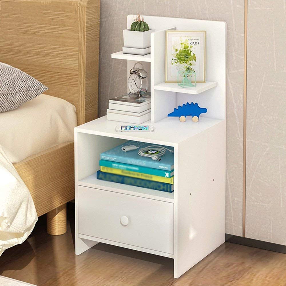 Emma Home Nightstand Bedside Cabinets Small Cabinets Storage Cabinets Bedside Lockers (Color : B)