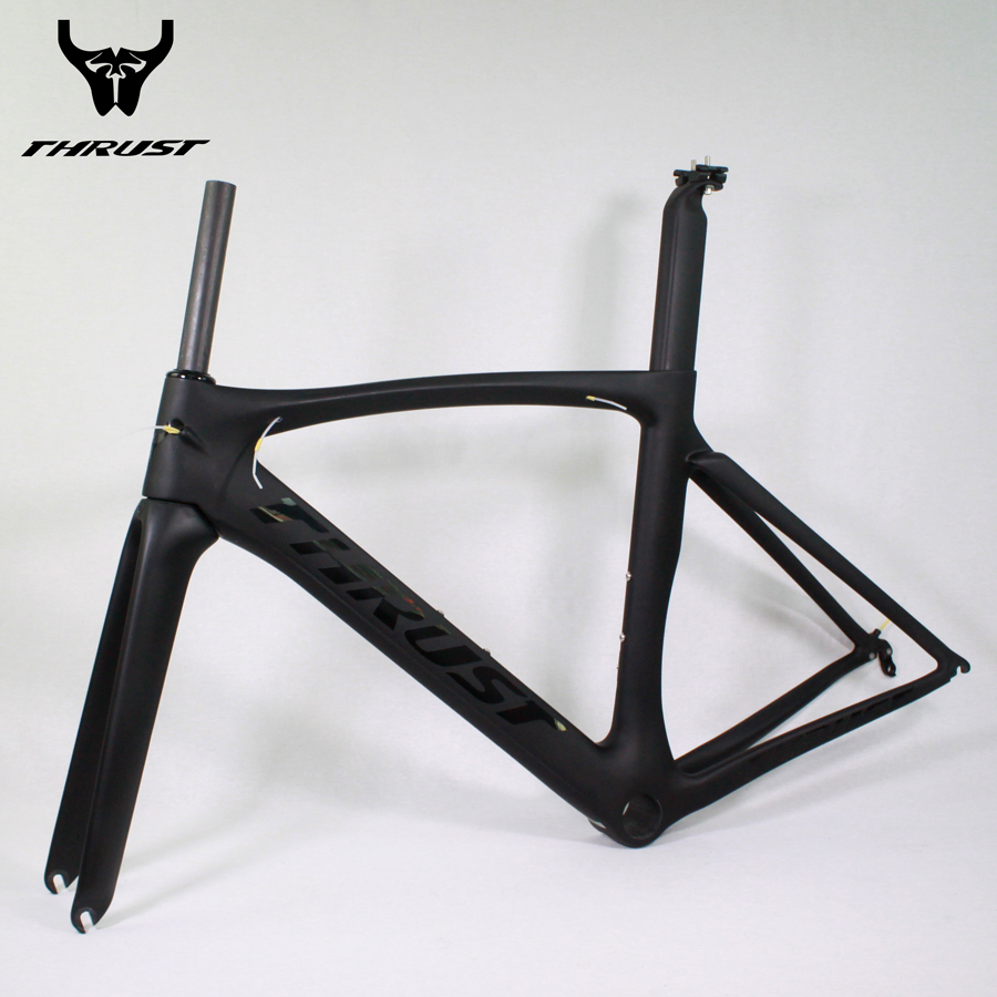Thrust Carbon Bike Frame 700c Carbon Road Frame t1000 UD Carbon Fiber Bicycle Frame 49 52 54 56 58cm Matte Glossy