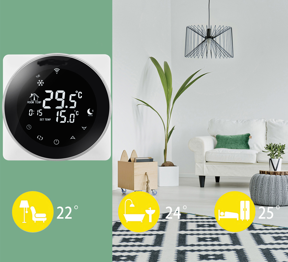 Digital WIFi thermostat housing floor heating wireless room thermostat