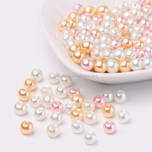 PandaHall Wholesale 6mm Round Mixed Cheap Glass Pearl Beads for jewelry making