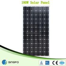 Best price per watt 180w poly pv solar panel big plant for asia
