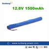 4s1p 1500mah 18650 lithium ion battery 12.8v lifepo4 battery pack 12.8v li-ion battery pack