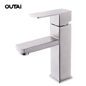High quality bathroom washroom brushed finish durable 304 stainless steel tap