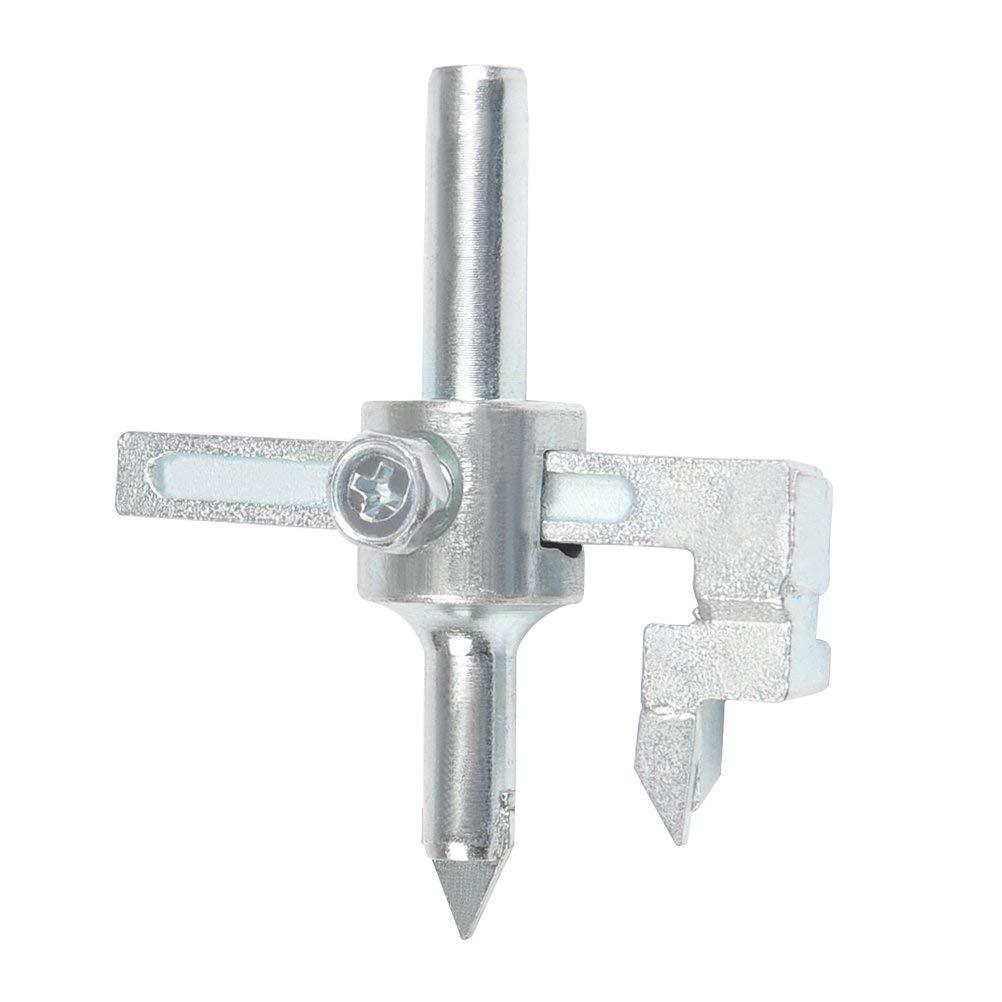 QLOUNI Ceramic Tile Drill Bits Set 26-100mm Adjustable Carbide Ceramic Tile Opener Drill Hole Saw (9.5mm Shank Diameter)