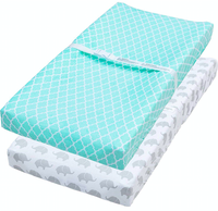 waterproof changing pad covers of soft jersey cotton