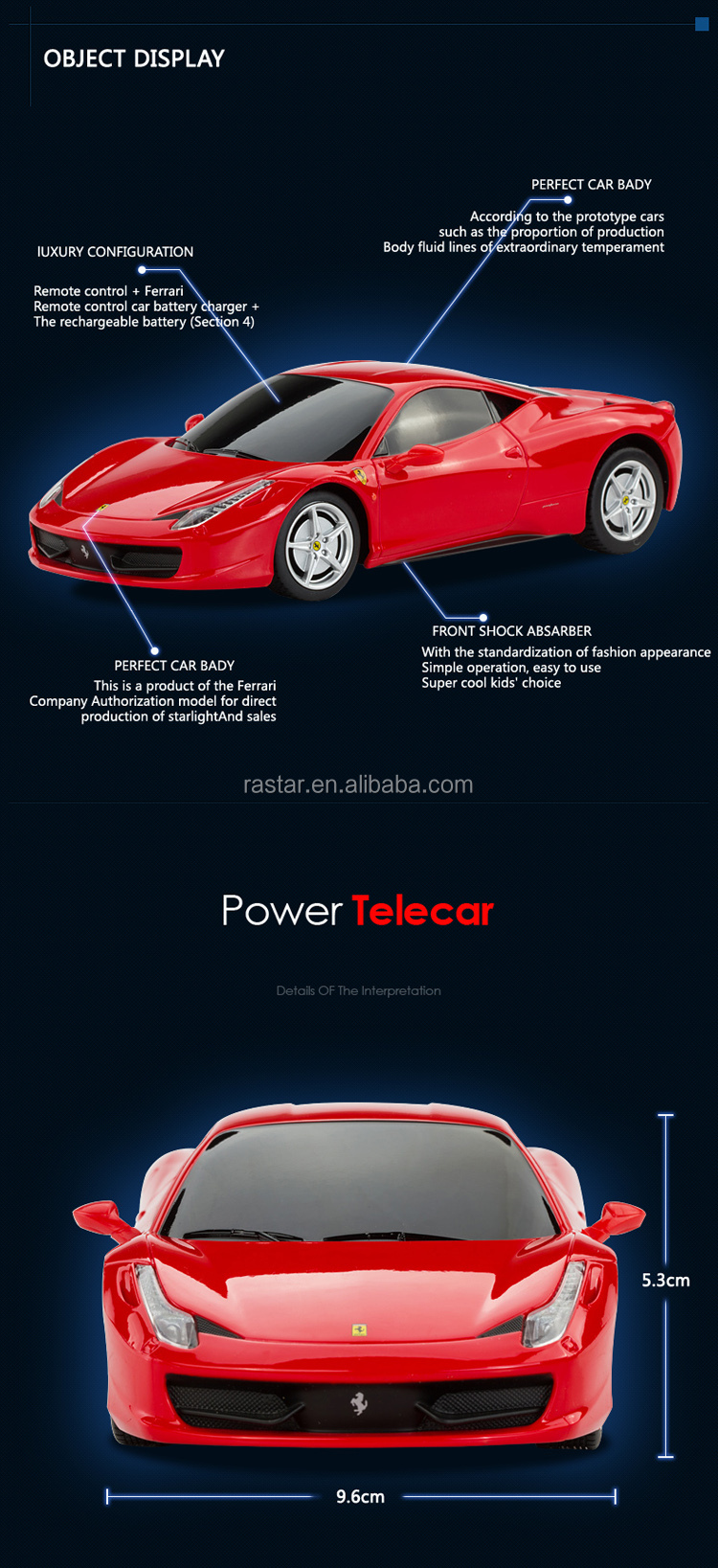 RASTAR shantou toy manufacturer Ferrari remote control car toy
