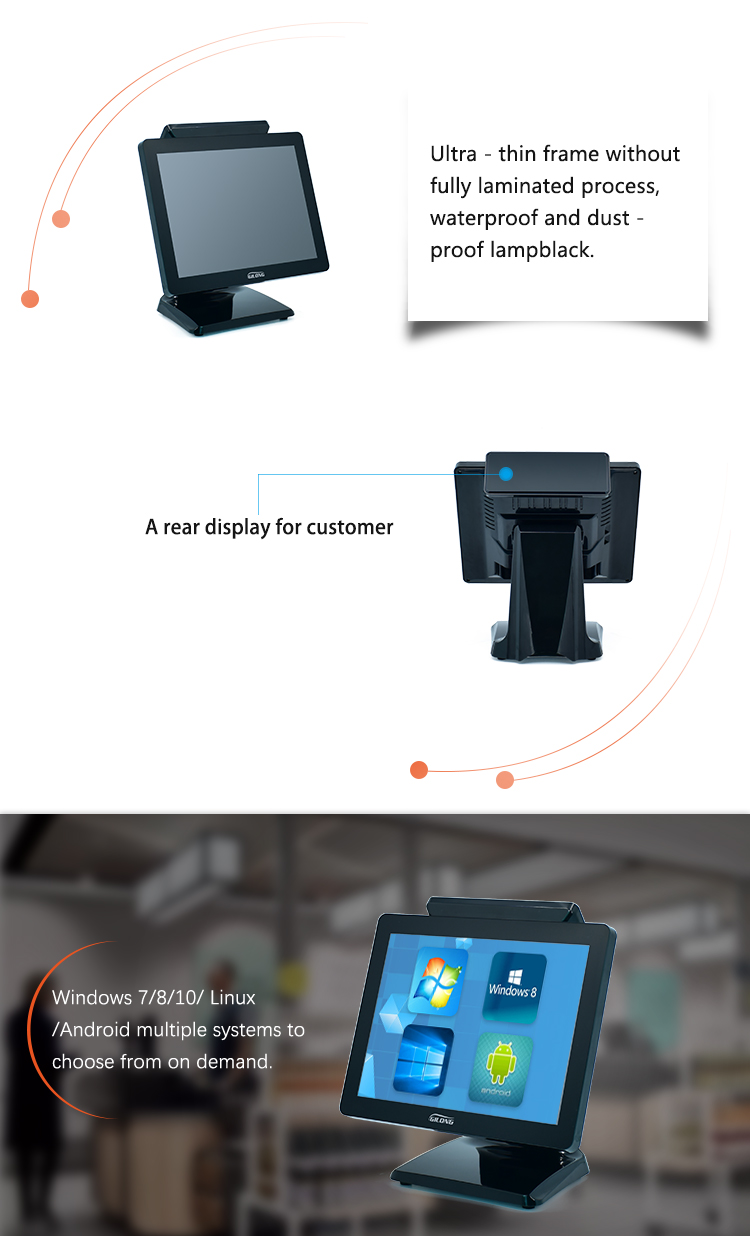 Windows All In One Touch Screen Point Of Sale Terminal Pos Ordering System