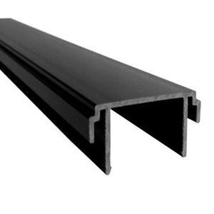 Plastic Roller Shutter Slide PVC Shutter Rail for Wardrobe and Furniture