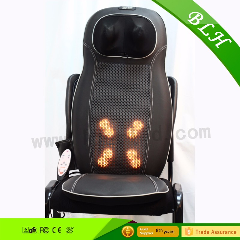 2016 Hot sale far infrared vibration jade kneading shoulder relax back cushion massager lumbar massage cushion for health care