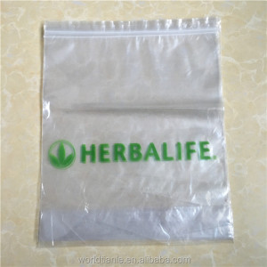 custom logo printed top quality moistureproof food package transparent BOPP ziploc plastic bag