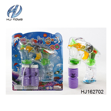 Good quality best price flash electric bubble gun toy with music and light