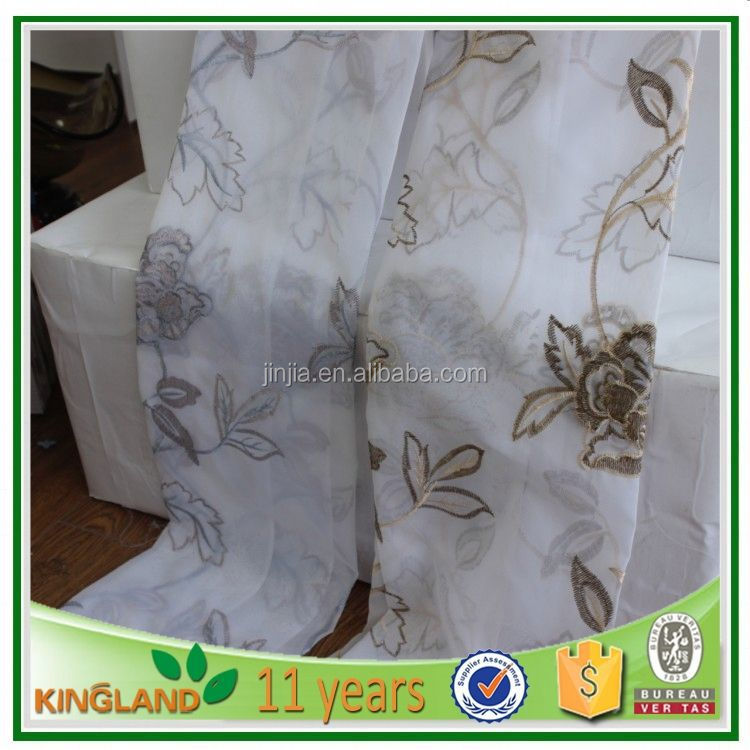 High quality luxury ready made sheer curtains