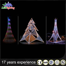 High Quality Outdoor waterproof IP44 Red christmas tree shape with top star
