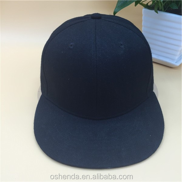 custom high quality 6 panel blank snapback cap