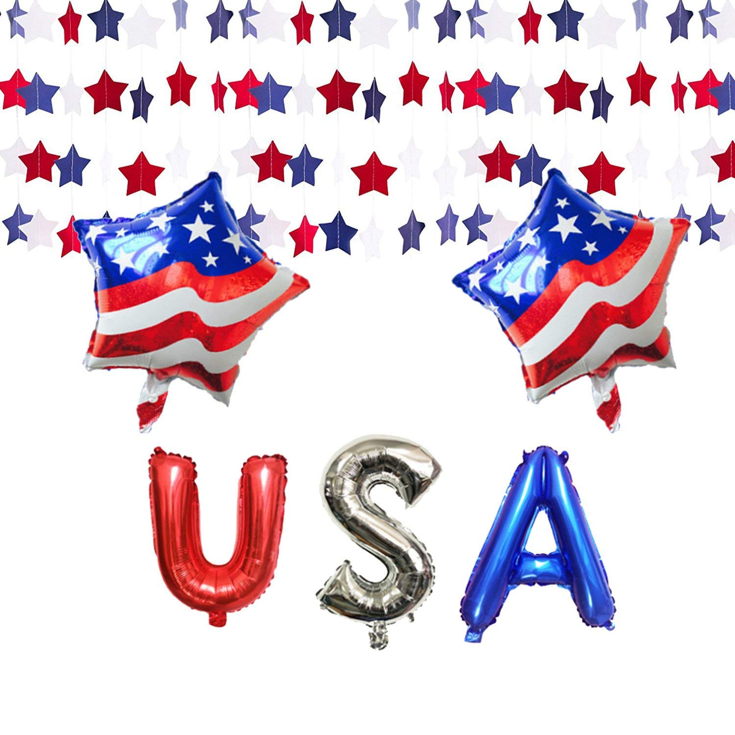 Home & Garden 10pcs July 4th American Independence Day Party Decor Balloons Banner Blue Star Red Stripe Latex Air Balloons Flag Decor Kids Toy Event & Party