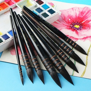 Handmade Squirrel's Hair Artist Watercolor Paint Brush French Style Pointed Painting Brushes For Watercolor Art Supplies
