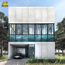 Light construction simple equipped building of prefab steel houses