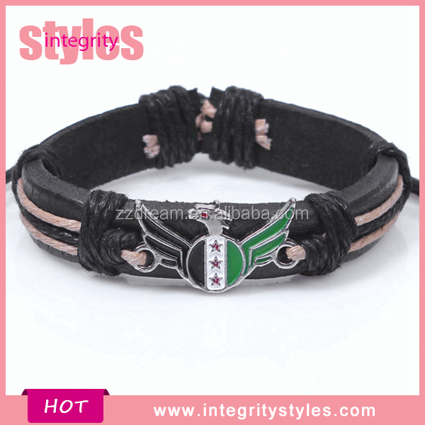 Factory Customed Braided Leather Blank Cuff Bracelets Wholesale