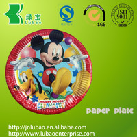 8 inch disposable flower paper plates or trays popular in Thailand
