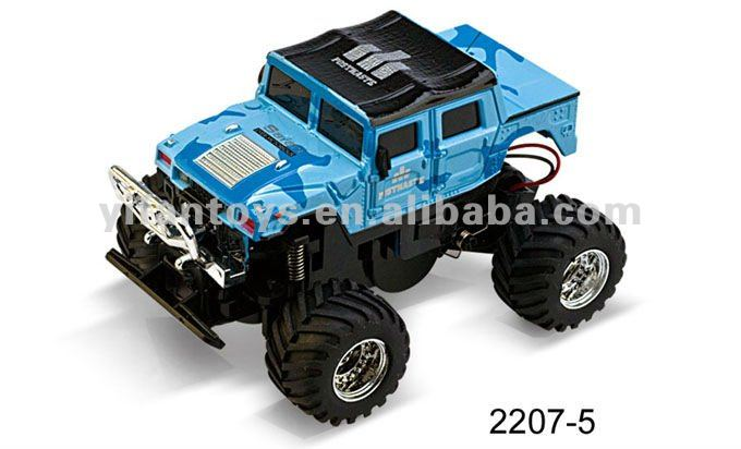 2207 1:58 Mini RC Hummer Cars with Light
