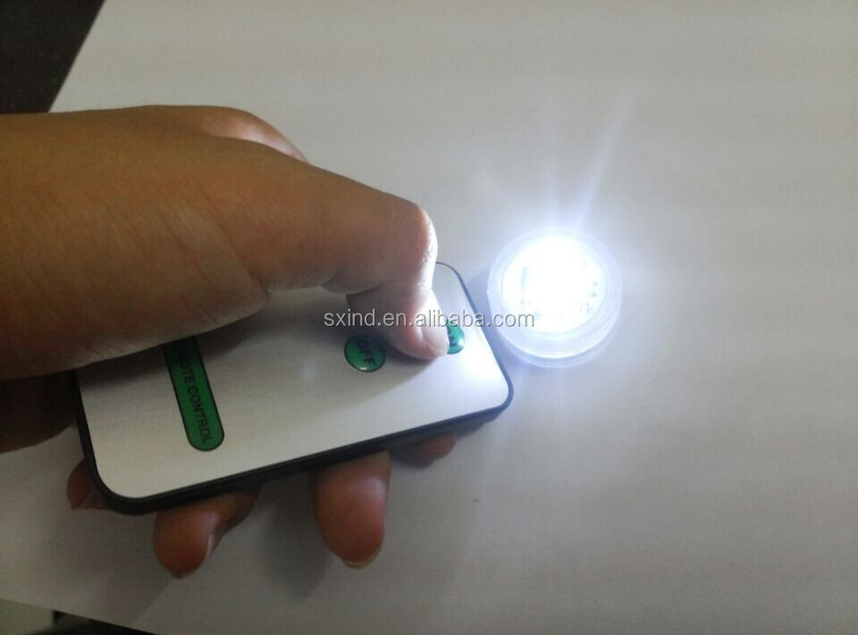 Remote Control Mini Single Led Lights Battery Powered