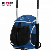 2018 New Design Navy Blue Slowpitch Softball Baseball Backpack Youth for kids with helmet holder