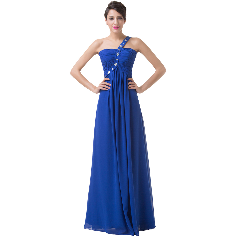 a156d07f888 Get Quotations · Free Shipping Sexy Cheap One Shoulder Celebrity Dress  Party Royal Blue Evening Dresses Lace Up Back