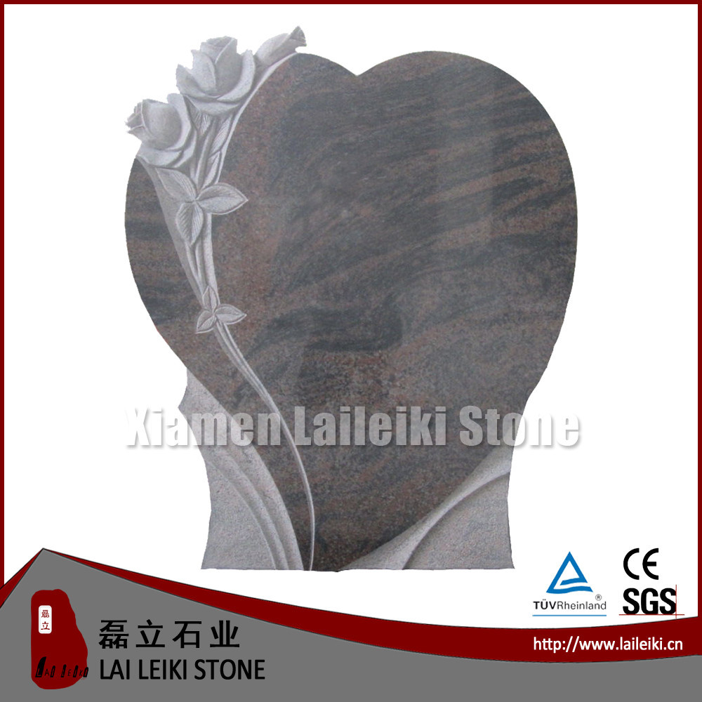 2015 new design tombstone granite slab bahama blue borders