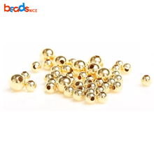 Beadsnice ID 26087 Glatte runde nahtlose perle 14 k <span class=keywords><strong>gold</strong></span> <span class=keywords><strong>gefüllt</strong></span> <span class=keywords><strong>perlen</strong></span> 2-10mm