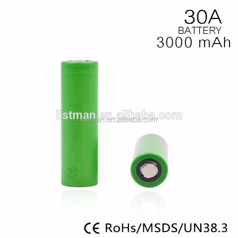Vtc6 18650 (us18650vtc6) 15a 3000mah For Sony Vtc6 Battery Cell Alibaba  China New Products Vape Pen - Buy High Quality 18650 3 7v Battery  Vtc6,18650